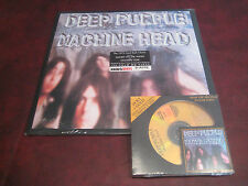 DEEP PURPLE MACHINE HEAD 24 KARAT GOLD AUDIOPHILE LIMITED RARE CD + 180 GRAM LP