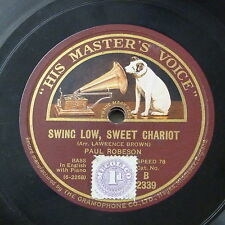 78rpm PAUL ROBESON swing low sweet chariot / joshua fit de battle ob jericho