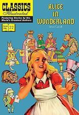 Classics Illustrated: Alice in Wonderland by Lewis Carroll (2016, Paperback)