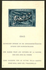 SWITZERLAND : 1945 War Relief Fund miniature sheet SG MS4446a unused,no gum