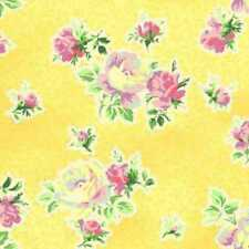 Cottage Shabby Chic Cotton Fabric Mary Rose Sweet Charms MR2150-15C Yellow BTY
