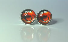 """The Muppets """"Animal"""" Glass domed Retro cufflinks"""