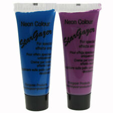 2 x Stargazer Beauty Skin Uv Face & Body Paint Neon Blue & Purple