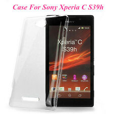 Clear Crystal Glossy Transparent Hard PC Case Cover For Sony Xperia C S39h C2305