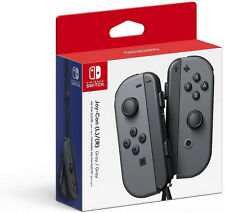 Genuine Nintendo Joy-Con (L/R)-Gray for Nintendo Switch - In Retail Packaging VG