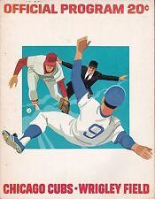 Chicago Cubs vs St. Louis Cardinals 1974 baseball scorecard - Zamora first win!