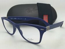 New RAY-BAN Eyeglasses LITEFORCE RB 7034 5439 52-19 Blue Frame w/ Clear Demo