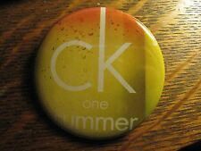 Calvin Klein CK One Summer Fragrance Logo Advertisement Lipstick Pocket Mirror