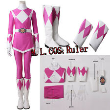 Popular Power Rangers Zyuranger Mei Ptera Ranger Cosplay Costume Pink Customized