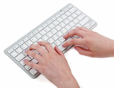 White Bluetooth Wireless Keyboard for APPLE iMAC iPad Macbook iPhone UK