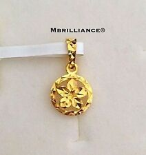 Authentic 22k Gold 916 Gold Small Flower Pendant 1.00g