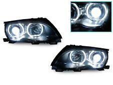 DEPO 02-05 BMW E46 4D/5D F30 V3 U-SHAPE Square Bottom LED Angel Headlight+Xenon