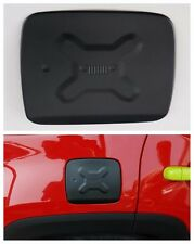 Aluminum Fuel Filler Door Cover Gas Tank Cap for Jeep Renegade 2015-2016 -Black