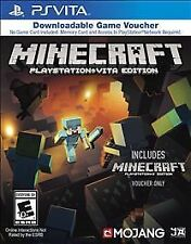 Minecraft PlayStation Vita Edition (Sony PlayStation Vita, 2014) w/ PS3 Voucher