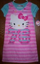 HELLO KITTY Nightgown PAJAMAS Girl's size 10/12 NeW Pjs Sanrio Sleep Shirt NWT