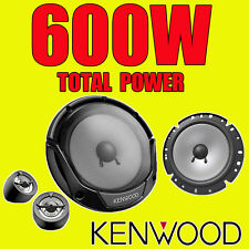 KENWOOD 600W TOTAL 2WAY 6.5-INCH 17cm CAR DOOR 2WAY COMPONENT SPEAKERS TWEETERS