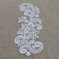 12 White Embroidery Venise Lace Flower Patch APPLIQUE