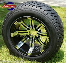 """GOLF CART 12"""" TEMPEST WHEELS and 215/50-12 COMFORT RIDE DOT TIRES(4)"""