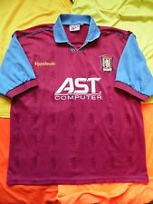 5/5 ASTON VILLA 1995/1997 ORIGINAL FOOTBALL SHIRT JERSEY HOME REEBOK SIZE 46-48