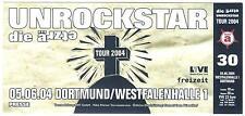 Die Ärzte - Unrockstar - Altes Konzert-Ticket Dortmund ä 30 #0209 vom 05.06.2004