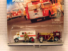 HW Action Pack FIRE 'N RESCUE Ambulance Fire-Eater Truck dalmation Hot Wheels