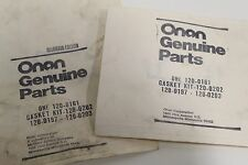 Pair of Onan Factory Sealed Genuine 120-161 Oil Pump Gasket Kit Free Priority SH