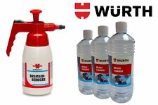 Wurth Pump Dispenser + 3 x 1 Litre Bottles of Wurth Brake Cleaner Package