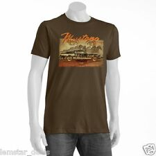 Newport Blue Mustang Sally Mens T-Shirt Brown XL NWT Classic Muscle Car Tee