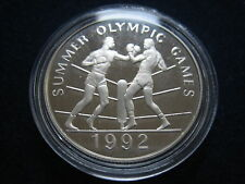 "Mds Jamaica 25 dollar 1992 proof ""Olympia Barcelone-boxe"", argent #5"