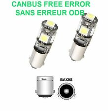 2 VEILLEUSE LED C4 GRAND PICASSO BAX9S H6W 5 SMD BLANC XENON 6000K CANBUS 12V
