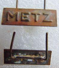 Barrette Agrafe authentique médaille Libération de METZ France 2° Guerre WWII