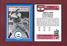 "SHAKEY'S PIZZA Hall of Fame: #47 JOE TINKER, Cubs ""Baseball's Greatest Players"""