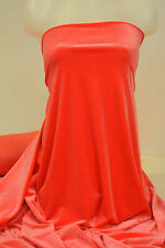 "VELVET 4 WAY STRETCH FABRIC NEON RED  58"" BTY  FORMAL COSTUME PAGEANT"