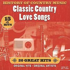 History of Country Music Classic Country Love Songs by Various Artists (CD) NEW