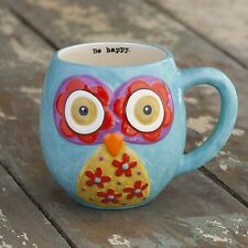 NATURAL LIFE OWL MUGS WITH FUN MESSAGES