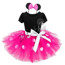 Minnie Mouse Ears Girls Kid Mickey Party Halloween Christmas Costume Fancy Dress