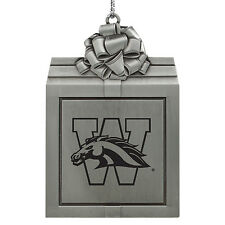 Western Michigan University-Pewter Christmas Holiday Ornament-Silver