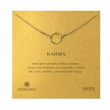 "NEW DOGEARED Gold ""THE ORIGINAL KARMA"" Circle Necklace -SALE"
