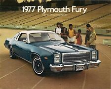 Plymouth Fury 1977 USA Market Sales Brochure Salon Sport Sedan Hardtop
