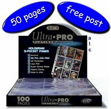 Ultra-Pro 9 Pocket Pages Platinum Series Multi-Hole Box/Pack Of 50 Free UK Post