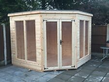 7x7 T&G CORNER SUMMER HOUSE (MODERN) (WOODEN GARDEN SHED) (LOG CABIN)