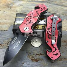 "3.5"" TAC-FORCE Red Dragon Small Outdoor Hunting Rescue Pocket Knife TF-686RD"