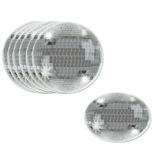 Pack of 8 70's Disco Ball Coaster - 9 cm -  Party Drink Coasters - 1970's Disco