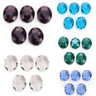 10pcs Charms Glass Crystal Flat Oval Beads 20x16mm Necklace/Earring Findings
