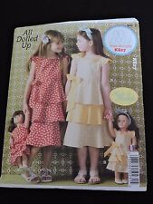 All Dolled Up Made to Match Girls Dolls Dresses Sewing Pattern Ellie Mae Kwik