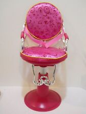 """Our Generation beauty salon chair Hot Pink fits 18"""" american girl Battat doll"""