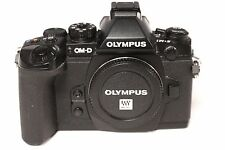 USED Olympus OM-D E-M1 16.3 MP Digital Camera - Black Body w/ Flash & 2 battery