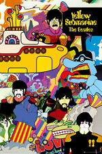 ~~ THE BEATLES AND THE YELLOW SUBMARINE 24X36 POSTER ~~