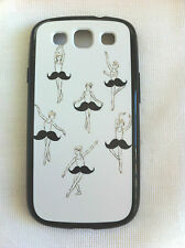 Ballerina with MOUSTACHE Tutu Printed Case for Samsung Galaxy S3 i9300