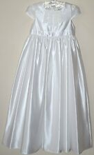 M&S AUTOGRAPH GIRLS COMMUNION BRIDESMAID CHRISTENING PARTY DRESS WHITE AGE 7 NEW